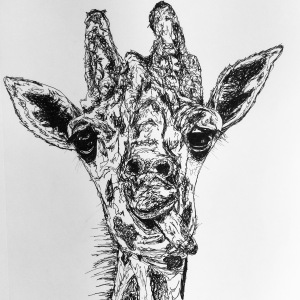 Giraffe Ink Sketch 2016